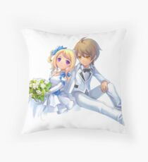 anime wedding couple Throw Pillow