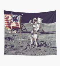 AMERICAN FLAG ON THE MOON USA MODERN PRINTING 1 Pc #27133044 Wall Tapestry