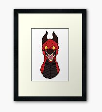 Angry Red Traditional Dragon Framed Print