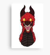 Angry Red Traditional Dragon Canvas Print
