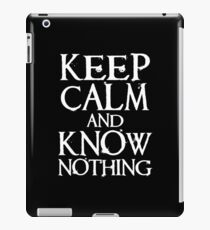 Keep Calm, Know Nothing iPad Case/Skin