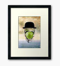 Magritte Skull Framed Print