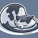 Cat Nap.  Black and White by CraigWoida
