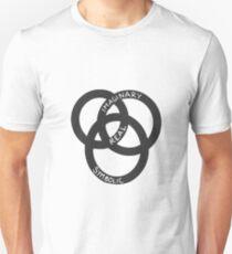 Imaginary Real Symbolic in Black Unisex T-Shirt