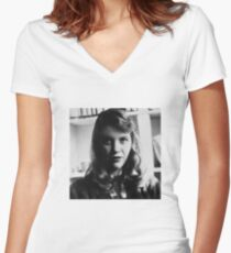 Sylvia Plath - Photo Women's Fitted V-Neck T-Shirt