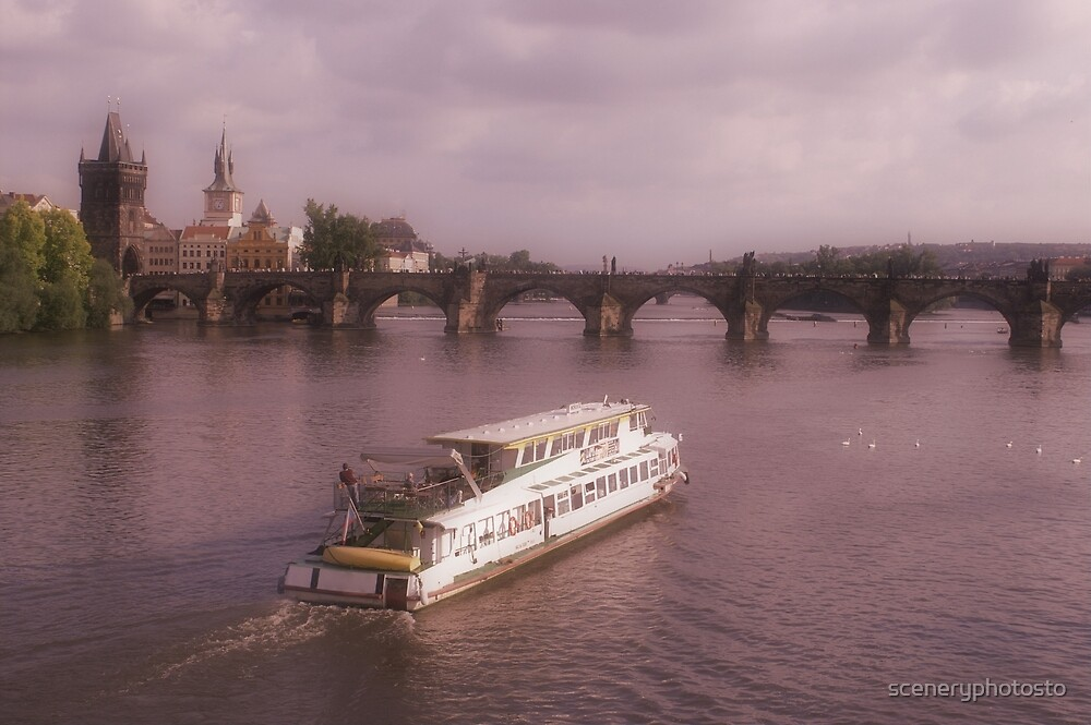 Canal Boat in Prague by sceneryphotosto