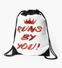 Runs by you Drawstring Bag