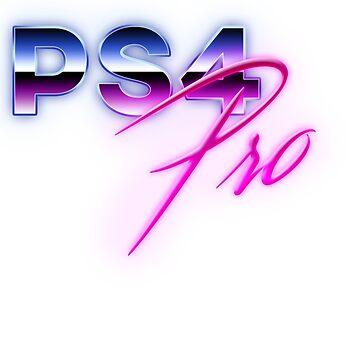 80s PS4 Pro Logo by phoenix529