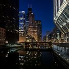 Your looking south from The Lake Street bridge in Chicago by Sven Brogren