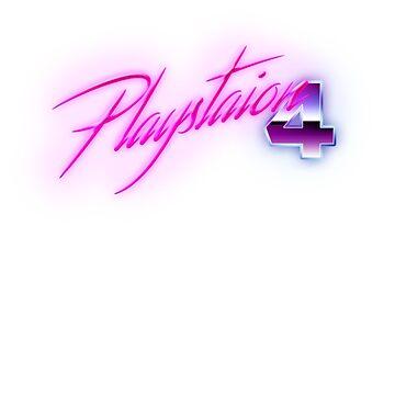 80s PS4 Logo by phoenix529