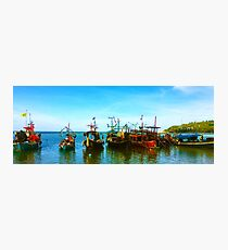 Thai Fishing Boats on Water Photographic Print