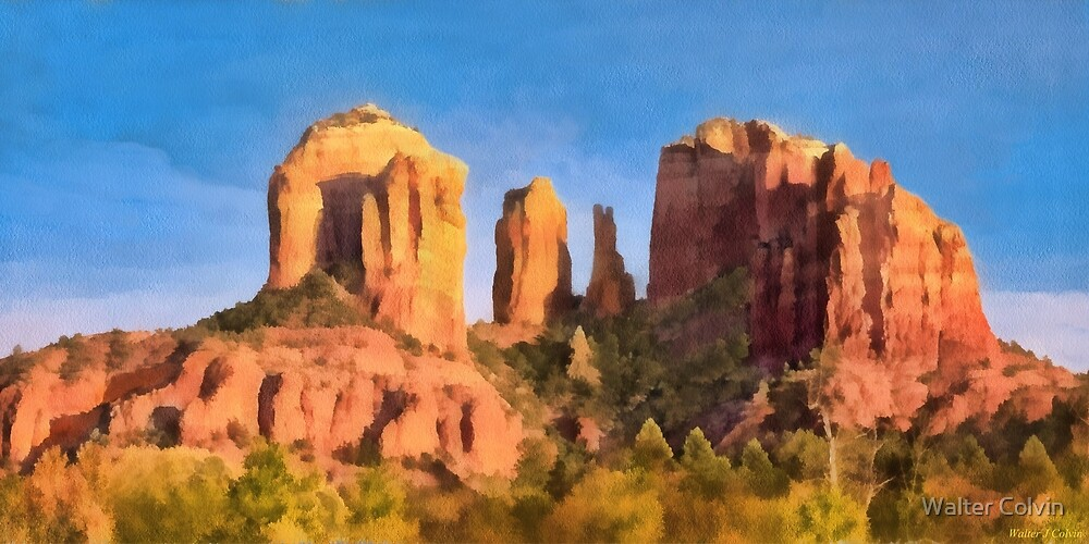 Red Rocks at Sedona by Walter Colvin