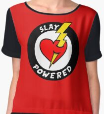 """State Of Slay """"Slay Powered"""" - To Benefit Battered Women Support Services (Red) Women's Chiffon Top"""