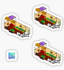 Tiny house stickers  Sticker