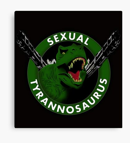 Sexual Tyrannosaurus Canvas Print