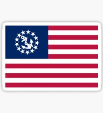 American Yacht Anchor Flag Sticker