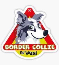 Border Collie On Board - Blue Merle Female Sticker