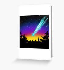 Comet  Greeting Card