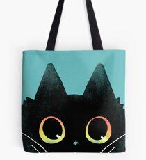 Curious Cat Eyes Tote Bag