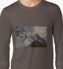 Wolf and Cosmos in Blues T-Shirt