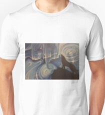 Wolf and Cosmos in Blues Unisex T-Shirt