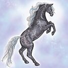 Rearing Horse by Stephanie Small
