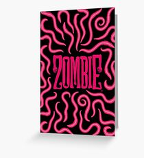 Zombie Logo (Red Worms) Greeting Card