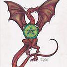 Dragon with Pentagram by Stephanie Small