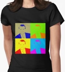 Regis Philbin Andy Warhol Womens Fitted T-Shirt