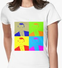 Regis Philbin Andy Warhol Women's Fitted T-Shirt