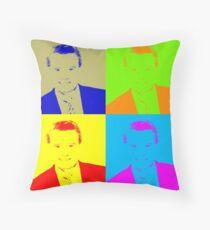 Regis Philbin Andy Warhol Throw Pillow