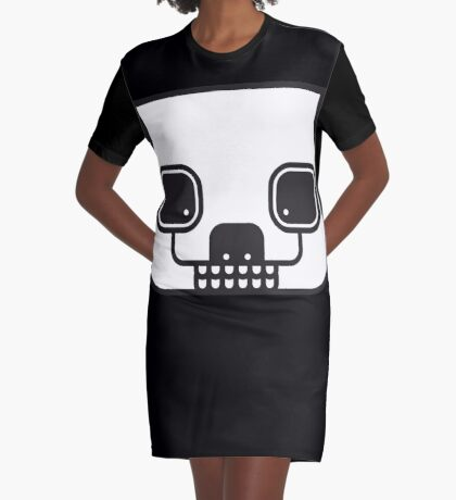 Zombie Panda Graphic T-Shirt Dress