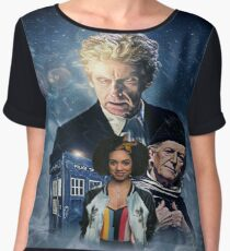 Doctor Who - The Twelfth Doctor and Bill Women's Chiffon Top