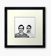 Jemaine and Taika 3 Framed Print