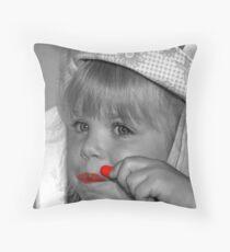Lip Color Throw Pillow