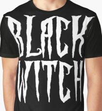 Black witch, white magical, fantasy font Graphic T-Shirt