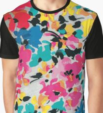 Graphic Flower Pattern Graphic T-Shirt
