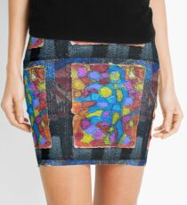 Stained glass cubism Mini Skirt