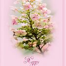 Happy Birthday Greeting Hydrangea by MotherNature2