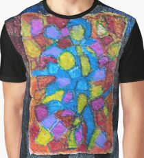 Stained glass cubism Graphic T-Shirt