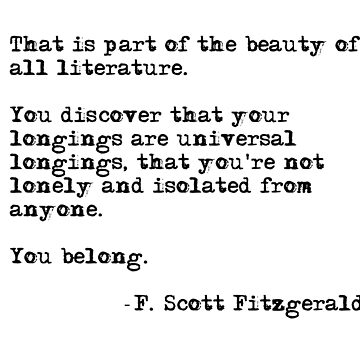 The beauty of all literature - F Scott Fitzgerald by peggieprints