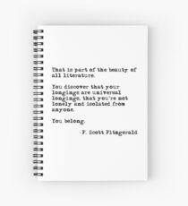 Die Schönheit aller Literatur - F Scott Fitzgerald Spiralblock