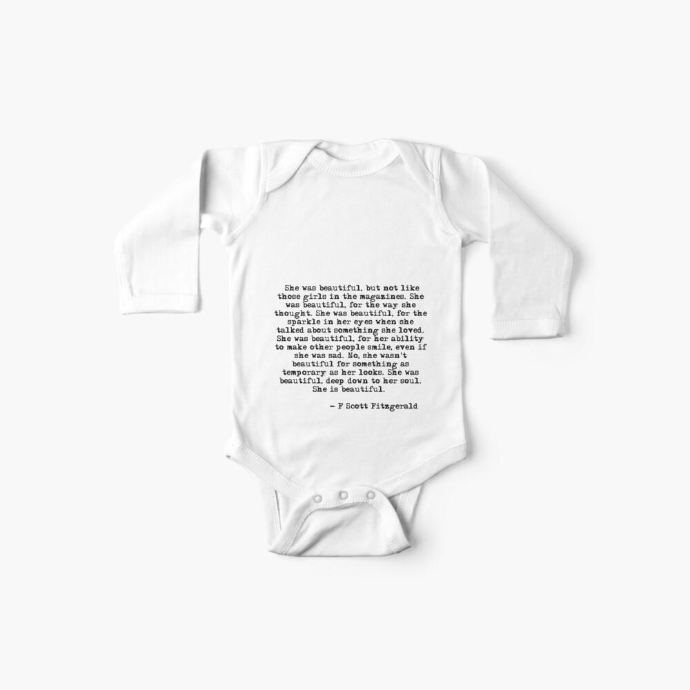 Sie war wunderschön - F Scott Fitzgerald Baby Body