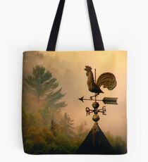 Rooster in the mist... Tote Bag