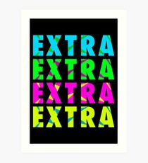 EXTRA Slang Art Print