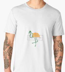 Flamango Flamingo Mango - Flamingos, Birds, Fowls, Animals, Ornithologists, Birdwatchers, Birders Gift Men's Premium T-Shirt