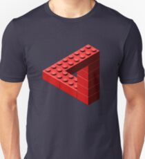 Escher Toy Bricks - Red Unisex T-Shirt