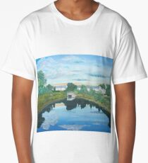 Millpond, rural Ireland Long T-Shirt