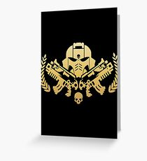 Warhammer 40k - Primaris Space Marine Emblem Greeting Card