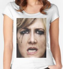 Laura Dern Crying! Women's Fitted Scoop T-Shirt